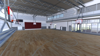 Artwork of the planned gym