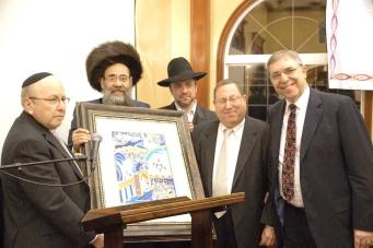 Presentation by Stanley Treitel, Rabbi Boruch Rubin, Rabbi Yehuda Feigen and Alan Stern, to Councilman Paul Koretz (2nd from Right)