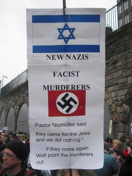 At a protest in Edinburgh