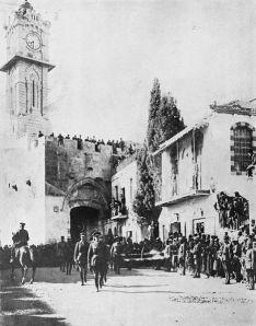 General Allenby entering Jerusalem on foot, 1917