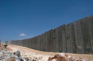 Israel's security barrier whcih is credited with putting an end to the terror experienced in the second Intifada