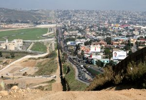 Border Between Tijuana and San Diego