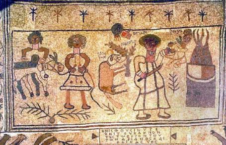 A mosaic depicting the Akeida