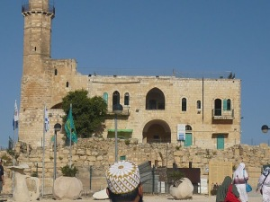 The Mosque in the city of Nabi Samil which houses the tomb of Shmuel Hanavi in its cellar