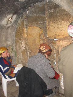 Western Wall tunnel oposite the Kodesh Hakadoshim