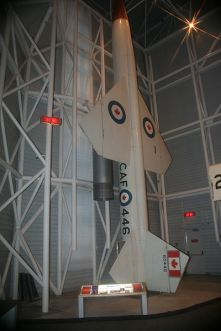 Bomarc B missile on display at the Canada Aviation Museum