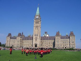 Changing of the guard at Parliament Hill