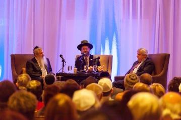 At the Westlake Hyatt, in conversation with Rabbi Moshe Bryski and David Suissa