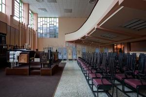 Interior of the Adath Israel (Orthodox) synagogue in Havana, Cuba