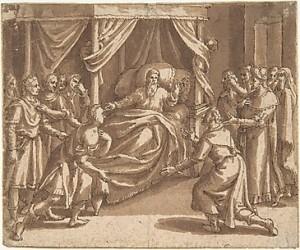 Jacob blessing his sons, by Adam Van Noort, 17th Century