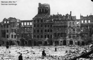Warsaw after the German bombings