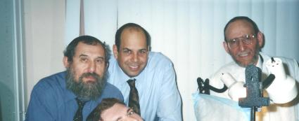 Rabbi Estulin Lyle Weisman And Rabbi Shechet at a Bris