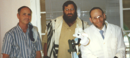 Rabbi Mendel Duchman and Rabbi Shechet at one of the Brissim