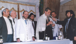 Rabbi Shechet, Rabbi Estulin with Rabbi Shear-Yashuv Cohen
