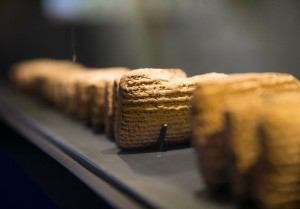 Cuneiform tablets detailing the daily life of exiled Jews in ancinet Babylon (Photo credit: Reuters)