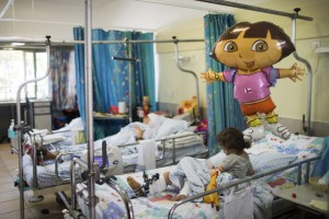 Children wounded in neighbouring Syria being treated at an Israeli Hospital