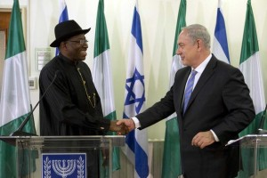 Coordinator of Nigerian National Information Centre, Mike Omeri with Israeli Prime Minister Benjamin Netanyahu