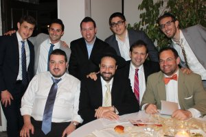 Top Left: Yoni Greenberg, Jack Frid, Eli Trainer, Ari Berman and Yossi Berman. Bottom Left : Avi Hendeles, R' Nachi Klein, Paul Greenberg and Seth Merewitz. Photos: Yosef Ober
