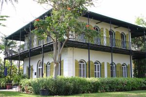 Home of Ernest Hemingway, Key West Florida. Photo by Andreas Lamecker via Wikimedia Commons