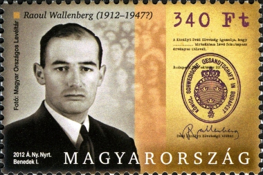 Hungarian stamp honoring Raul Wallenberg