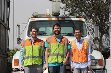 Left to right: Dovie Brown, Team Leader, Daneil Mayer, VP of Construction, Emile Pesso, Team Leader