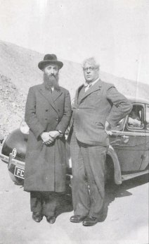 Refugee representative and advocate Rabbi Chaim Kruger with Dr. Aristides de Sousa Mendes