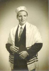 Schwartzie at his Bar Mitzvah