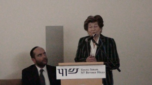 Yom Hashoah - Auschwitz survivor Mrs Hedy Orden speaking at YINBH