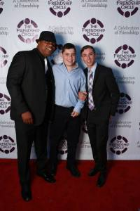 Julius, FCLA's behavioral therapist with Steven Birnbaum, FC young adult and Levi Isaac, FC volunteer and recipient of the Henini Award. Shimi Lautman Photography
