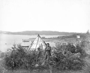 Mi'kmaq people at Tufts Cove, Nova Scotia, Canada