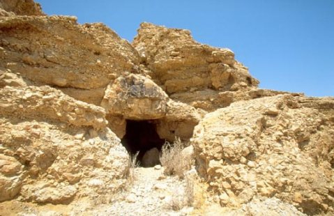 The entrance of Qumran Cave 11