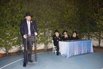 Reb Shlomo Yehuda Rechnitz, Harav Pinchos Gruman, Harav Malkiel Kotler and Harav Dovid Schustal. Photo: Arye D. Gordon