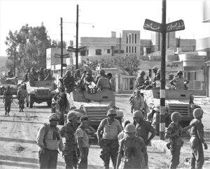 IDF entering Gaza in 1967