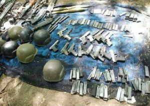 Weapons cache found in a tunnel leading from Gaza to Israel