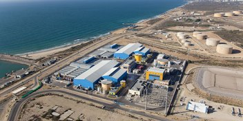 A water desalination plant in Israel