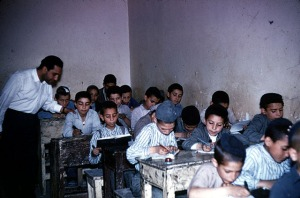 A class in Shiraz, 1966. Photo Ida Cowen. Beit Hatfutsot, the Visual Documentation Center.