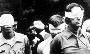 Hostages taken from the US Embassy during the Iranian revolution