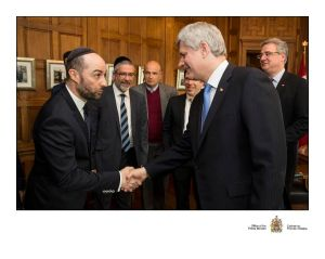 Steve Maman with Canadien Prime Minister Stephen Harper