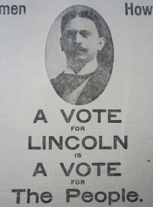 A campaign leaflet for Trebitsch's 1910 election to the British parliament. His use of the Lincoln surname did not help to hide his foreign origins, but even with this impediment he unexpectedly won