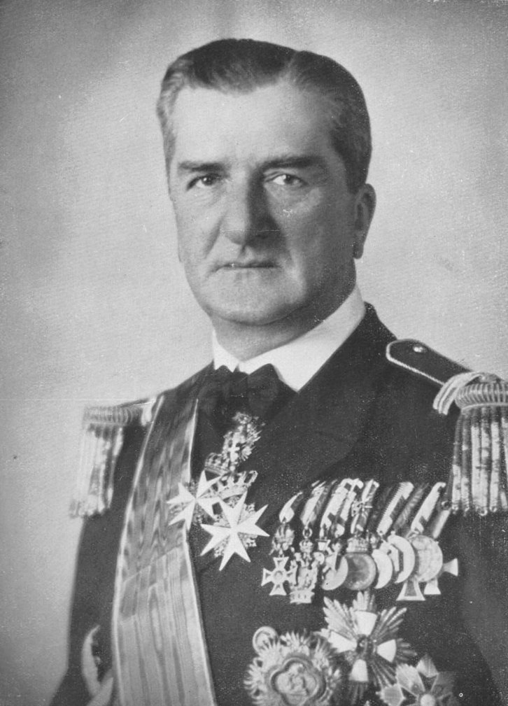 Admiral Miklos Horthy, the Regent of Hungary, who met with Trebitsch and Colonel Max Bauer in Budapest in May 1920