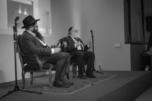 Rabbi Lieberman and Simon Jacobson