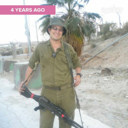 their son, YULA graduate, Mordy serving in the Kfir brigade