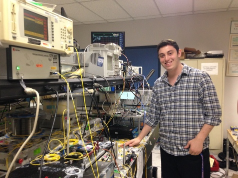 Yula - Asher at work in the Optical Communications Laboratory at USC