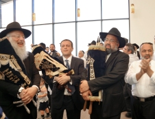 Rabbi Boruch Gradon, Yossi Essas and Rabbi David Revah