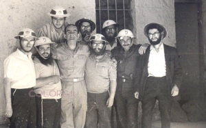Schwartzie, third from right, with fellow students in Jerusalem during the Six Day War