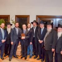 Rav Yisroel Reisman, shlita, visits Los Angeles in preparation of the upcoming Yeshiva Torah Vodaath 98th Annual Dinner
