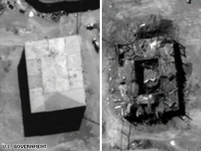 Syrian reactor before and after