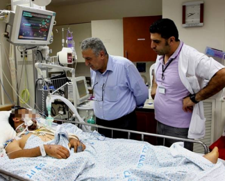 Wounded Syrians being treated in Israel