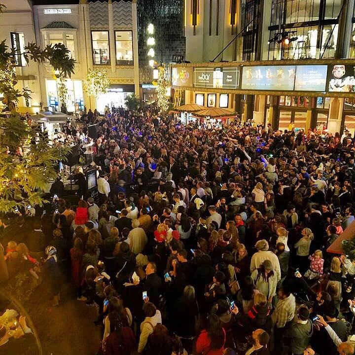 Grand Menorah lighting at The Grove on the first night of Chanukah. Hosted by Rabbi Zalmy Rebbetzin Chana Fogelman of Village Synagogue (1)
