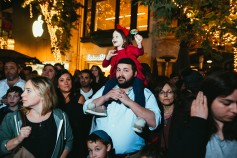 Grand Menorah lighting at The Grove on the first night of Chanukah. Hosted by Rabbi Zalmy Rebbetzin Chana Fogelman of Village Synagogue (7)